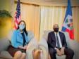 iciHaiti - Politic : The PM talks with the American Ambassador Michèle Sison