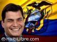Haiti - Reconstruction : Official visit of the President of Ecuador, Rafael Correa