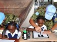 Haiti - Humanitarian : The Japanese soldiers alongside the Haitian students