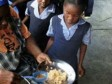 Haiti - Agriculture : At school, Haitian children, eat local products