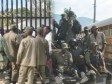 Haiti - Security : A hundred men in fatigues and armed before the Parliament