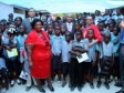 Haiti - Education : Laurent Lamothe wishes that one million students receive a good meal daily