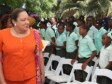 Haiti - Social : Sophia Martelly and Michaëlle Jean have distributed books to schoolchildren