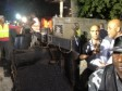 Haiti - Reconstruction : Lamothe - Martelly, inspection visit in the night