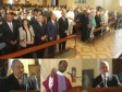 Haiti - Diplomacy : President Martelly at the Mass for the health of President Chavez