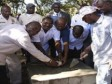 Haiti - Sports : Launch of the construction of two new sports Parks