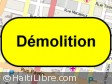 Haiti - Reconstruction : Beginning of demolition for the construction of the future City Administrative