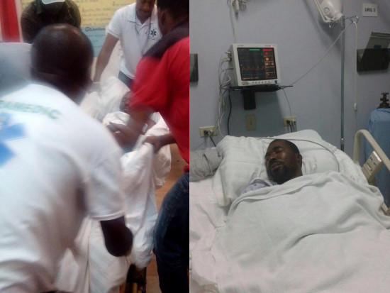 Haiti flash arnel b lizaire rushed to hospital for Canape vert haiti