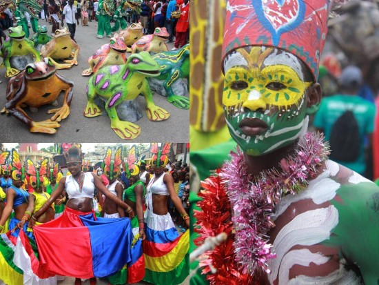 Haiti - Culture : Evans Paul and several ministers at the Carnival ...