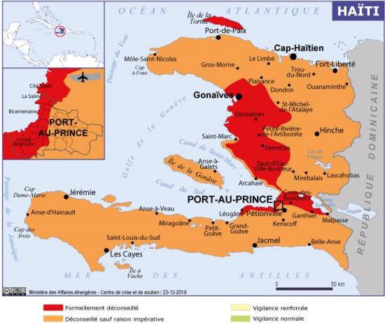 La France déconseille à ses ressortissants de venir en Haïti pour les fêtes de fin d'année