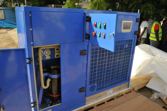 Atmospheric Water Generator ~ Haiti technology inauguration of an atmospheric water