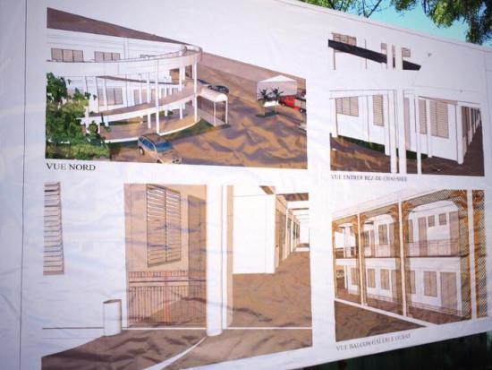 haitimedia ha ti reconstruction pose de la premi re pierre des nouveaux locaux de l agd. Black Bedroom Furniture Sets. Home Design Ideas